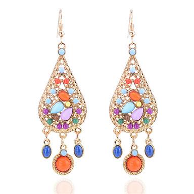levne Dámské šperky-Dámské Tanzanit Visací náušnice Kapka dámy Cikánské Módní Cikánský Pryskyřice Náušnice Šperky Duhová Pro Dovolená Jdeme ven