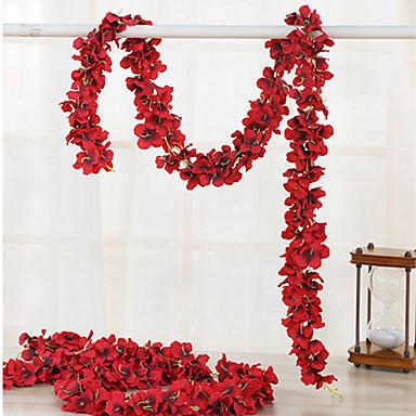 Kunstige blomster 1 Gren Luksus Bryllup Hortensiaer Veggblomst