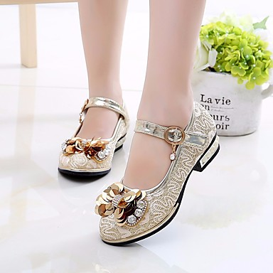 4b699532297d Girls  Shoes PU(Polyurethane) Spring   Summer Flower Girl Shoes   Tiny Heels  for Teens Heels for Yellow   Pink 6610890 2019 –  14.99