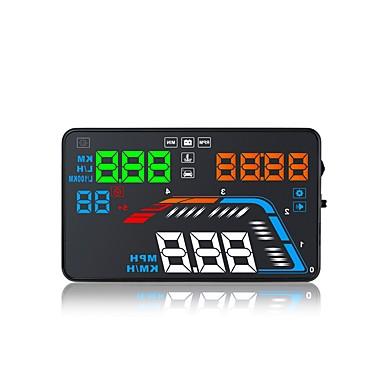 levne Auto Elektronika-q700 5,6 palcový led vedl displej displej multifunkční displej plug and play pro nákladní auto displej auta km / h mph jízdní rychlost