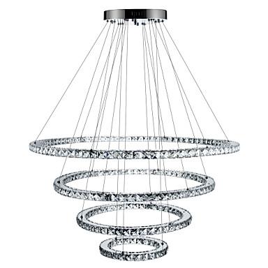 Cirkelrunda Ljuskronor Glödande Elektropläterad Metall Kristall, Bimbar, LED 110-120V / 220-240V Dimbar med fjärrkontroll