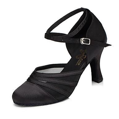 billige Utvalgte tilbud-Dame Dansesko Syntetisk Moderne sko Høye hæler Kubansk hæl Svart / Lilla / Trening / EU39