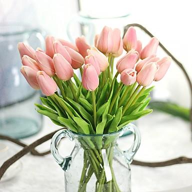 preiswerte Meistverkauft-Künstliche Blumen 10 Ast Rustikal Party Tulpen Ewige Blumen Tisch-Blumen
