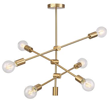 σύγχρονα φώτα κρεμαστό κόσμημα με επένδυση 6 φωτιστικών φούρνο σαλόνι τραπεζαρία υπνοδωμάτιο πολυέλαιος