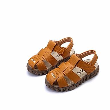 preiswerte Schuhe und Taschen-Jungen Komfort Leder Sandalen Kleinkind (9m-4ys) / Kleine Kinder (4-7 Jahre) / Große Kinder (ab 7 Jahren) Weiß / Schwarz / Gelb Sommer