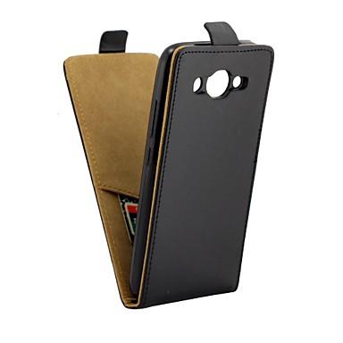 Etui Til Huawei Huawei Y3 (2017) Kortholder / Flipp Heldekkende etui Ensfarget Myk PU Leather