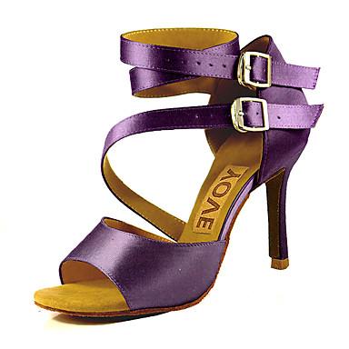 ราคาถูก Trendy Shoes-สำหรับผู้หญิง รองเท้าเต้นรำ ซาติน ลาติน / Salsa หัวเข็มขัด / ผูกริบบิ้น รองเท้าแตะ / ส้น ส้นแบบกำหนดเอง ตัดเฉพาะได้ บรอนซ์ / Almond / Nude / Performance / หนังสัตว์ / มืออาชีพ / EU41