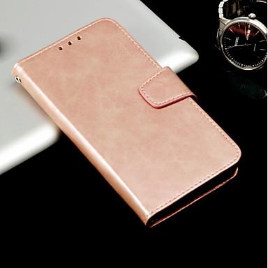 Etui Til Samsung Galaxy A3 (2017) / A5 (2017) / A8 2018 Kortholder / med stativ / Flipp Heldekkende etui Ensfarget Hard PU Leather