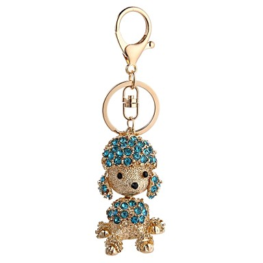 cheap Keychains-Keychain Dog Casual Fashion Ring Jewelry Red / Light Blue / Light Green For Gift Daily