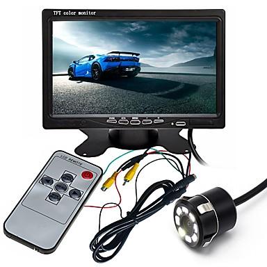 levne Auto Elektronika-ziqiao 7 palcový hd tft lcd vozidla zálohování zadní pohled fotoaparát monitor s leteckým konektorem video kabel