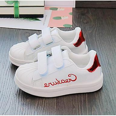 preiswerte Schuhe und Taschen-Jungen / Mädchen Komfort PU Sneakers Kleinkind (9m-4ys) / Kleine Kinder (4-7 Jahre) Rot / Grün / Blau Herbst
