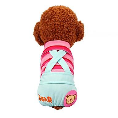 Hunder Katter Kæledyr Bukser Hundeklær Fuksia Gul Blå Kostume Beagle Bulldog Shiba Inu Bomull Stripet Mønstret Sitater og uttrykk Sweet Style Fritid / hverdag XXS XS S M L