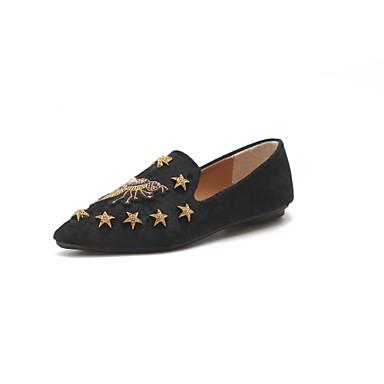 02b438d1fc59e Women s Shoes Fleece Spring   Summer Comfort Loafers   Slip-Ons Flat Heel Pointed  Toe Rhinestone   Rivet Black   Coffee   Khaki 6716670 2019 –  24.99