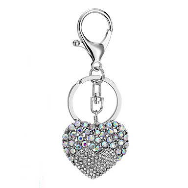 cheap Keychains-Keychain Gags & Practical Joke Heart School Special Designed Stainless steel For Adults All Boys' Girls' 1 pcs