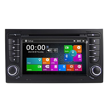 levne Auto Elektronika-Factory OEM 7 inch 2 Din Windows CE 6.0 Zabudovaný Bluetooth / GPS / RDS pro Audi Podpěra, podpora / Dotykový displej / SD / USB podpora