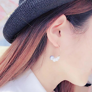 preiswerte Ohrringe-Damen Perlen Süßwasserperle Kreolen damas Modisch Edelstahl vergoldet Süßwasserperle Ohrringe Schmuck Gold Für Party Verabredung