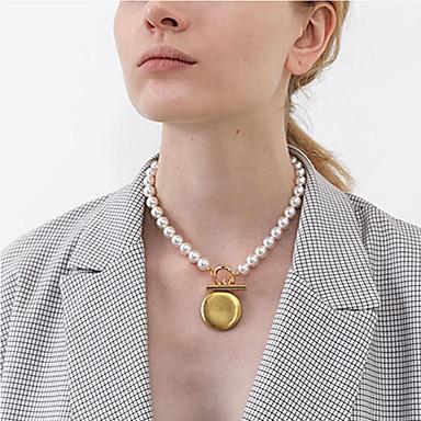 levne Dámské šperky-Dámské Perla Laso Náhrdelníky s přívěšky Náušnice Náhrdelník Pearl přediva Perly Pozlacené dámy korejština Módní Zlatá 42.5 cm Náhrdelníky Šperky Pro Dar Denní