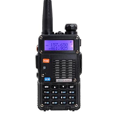 voordelige Walkie-talkies-baofeng handheld dual band 5 km-10 km 5 km-10 km walkie talkie twee weg radio / 136-174 mhz / 400-480 mhz intercom kleine radio preofessionele fm transceiver