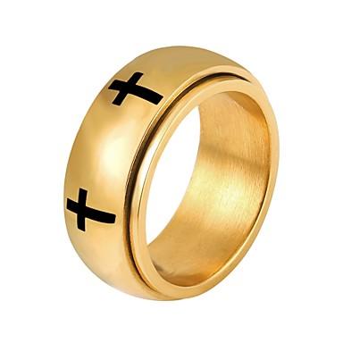 levne Pánské šperky-Pánské Dámské Boxer Zlatá Stříbrná Nerez Circle Shape Módní Denní Šperky Zásobník Haç křížek