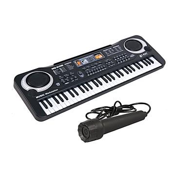 preiswerte Spielzeuginstrumente-Elektronisches Keyboard Mikrofon Piano Kompatibel mit iPad, iPod Touch und iPhone Bildung Multifunktions-61-Taste Unisex Jungen Mädchen Kinder Spielzeuge Geschenk 1 pcs