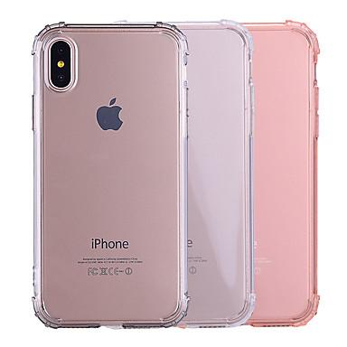 povoljno iPhone maske-Θήκη Za Apple iPhone X / iPhone 8 Plus / iPhone 8 Otporno na trešnju / Prozirno / Translucent Stražnja maska Jednobojni Mekano TPU
