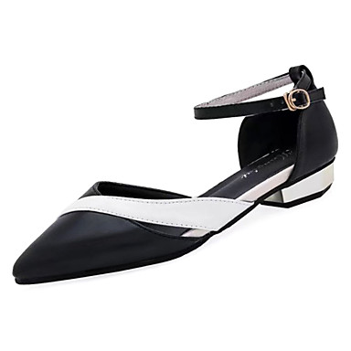 37dc7417f3f8 Women s Shoes PU Summer Ankle Strap Flats Flat Heel Pointed Toe Black    Beige   Party   Evening 6713879 2019 –  22.99