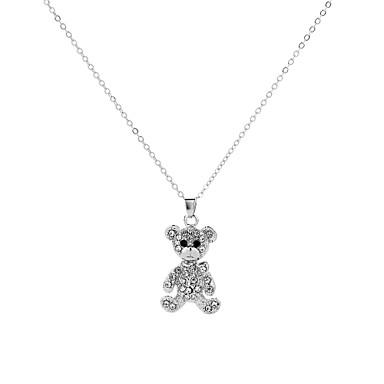 povoljno Modne ogrlice-Ogrlice s privjeskom Panda dame Crtići Europska Metal Legura Obala 50 cm Ogrlice Jewelry Za Party Rad Jabuka
