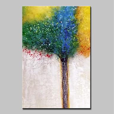 Hang malte oljemaleri Håndmalte - Abstrakt Blomstret / Botanisk Moderne Inkluder indre ramme / Stretched Canvas