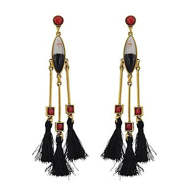 povoljno Modne naušnice-Sintetička Rubina Viseće naušnice Rese Chandelier Long dame Kićanka Moda Naušnice Jewelry Obala / Crn / Crvena Za Vjenčanje Ulica