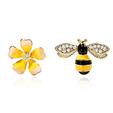 povoljno Modne naušnice-Sitne naušnice neprilagođeno Cvjetni / Botanicals Cvijet Pčela dame Moda Naušnice Jewelry Bijela Za Dnevno