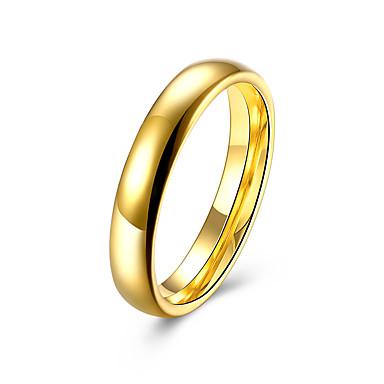levne Pánské šperky-Pánské Band Ring Boxer 1ks Zlatá Titanová ocel Nerezové Circle Shape Svatební Denní Šperky