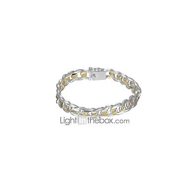 voordelige Herensieraden-Armbanden met ketting en sluiting Wide Bangle meetkundig Hol Vintage Koper Armband sieraden Zilver Voor Dagelijks Werk