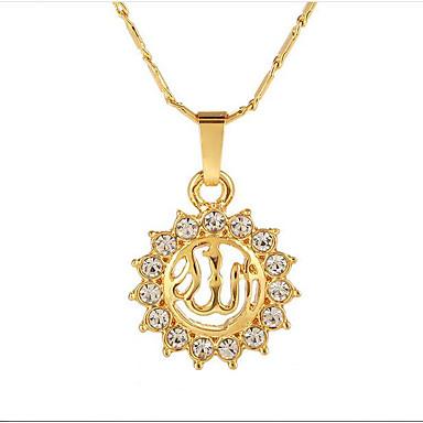 povoljno Modne ogrlice-Ogrlice s privjeskom Sunce Vjera dame Etnikai 18K pozlaćeni Legura Zlato Pink Rose Gold 55 cm Ogrlice Jewelry Za Dar Dnevno