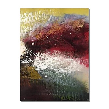 Hang malte oljemaleri Håndmalte - Abstrakt Moderne Inkluder indre ramme / Stretched Canvas