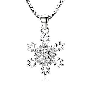 povoljno Modne ogrlice-Kubični Zirconia mali dijamant Ogrlice s privjeskom Pahulja dame slatko Moda Legura Pink 45 cm Ogrlice Jewelry Za Party Dnevno