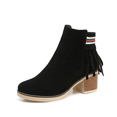 Women S Shoes Leatherette Winter Fashion Boots Bootie Boots Chunky