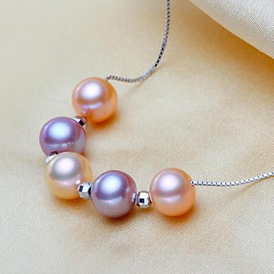 levne Dámské šperky-Dámské Obojkové náhrdelníky příroda Módní Elegantní Stříbro Stříbrná 45 cm Náhrdelníky Šperky Pro Párty Dar