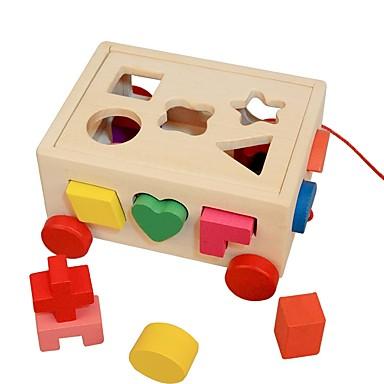 Puslespill Puslespill i tre Puslespill og logikkleker Søtt Tre 16 pcs Barne Barnehage Leketøy Gave