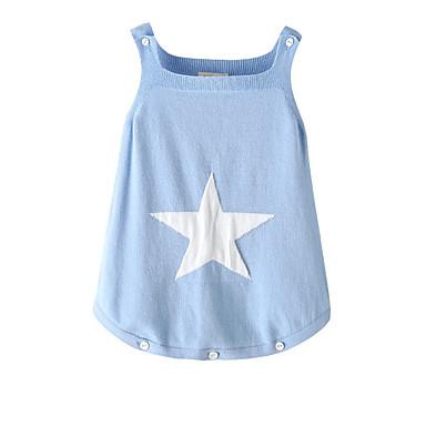 povoljno Odjeća za bebe-Dijete Djevojčice Osnovni Dnevno Galaksija Bez rukávů Pamuk Jednodijelno Svjetloplav