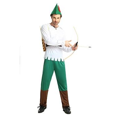Flere Kostymer Alv Kostume Herre Voksne Halloween Halloween Karneval Nytt År Festival / høytid Polyester Drakter Hvit Ensfarget Halloween