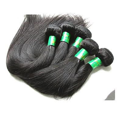 povoljno Ekstenzije od ljudske kose-5 paketića Indijska kosa Ravan kroj Virgin kosa Remy kosa Ekstenzije od ljudske kose Prirodna boja Isprepliće ljudske kose Novi Dolazak Rasprodaja Afro-američka perika Proširenja ljudske kose / 10A