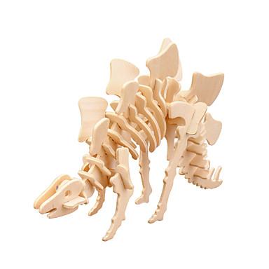 voordelige 3D-puzzels-3D-puzzels Tyrannosaurus / Stegosaurus / Jurassic Dinosaur Ouder-kind interactie / Cool Word / Phrase / 3D Cartoon Puinen 2pcs Volwassenen