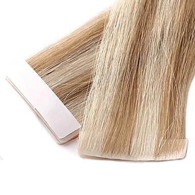 levne Příčesky z pravých vlasů-Neitsi Lepící Rozšíření lidský vlas Volný Remy vlasy Příčesky z pravých vlasů Brazilské vlasy Černá Blonďatá 1pcs Bez vůně ručně vyrobeno Světlé barvy Dámské Tmavě blond / Honey Blonde