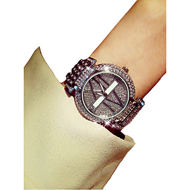 povoljno Ženski satovi-Žene Ručni satovi s mehanizmom za navijanje Diamond Watch Japanski Kvarc Srebro / Zlatna Kronograf Svjetleći imitacija Diamond Analog dame Luksuz Elegantno - Zlato Pink Dvije godine Baterija Život