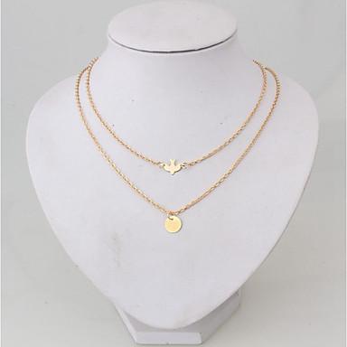 levne Dámské šperky-Řetízky vrstvené Náhrdelníky Vícevrstvé Silný řetězec Ptáček Mír dámy Slitina Zlatá 52 cm Náhrdelníky Šperky Pro Denní