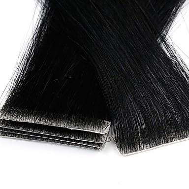 preiswerte Einklebbare Haarverlängerungen-Neitsi Zum Festkleben Haarverlängerungen Glatt Cabello Natural Remy Erweiterung Brasilianisches Haar Schwarz Blond 1pack Party extention neu Damen Blonde