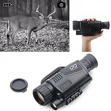 cheap Binoculars, Monoculars & Telescopes-5 X 40 mm Night Vision Monocular Infrared Rechargeable Recording Image and Video Function Portable Night Vision 5 m Fully Multi-coated BAK4 Hunting Climbing Military / Tactical / Bird watching