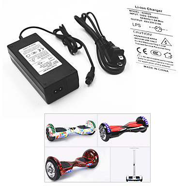 cheap Scooters, Skateboarding & Rollers-Power Adapter / Cable for Smart Balancing Scooter / Electric Battery Charger 42 V V 2 A A Input 100-240 V V AC For Hoverboard / Caster Board 13.8*6.0*3.6 cm Plastic