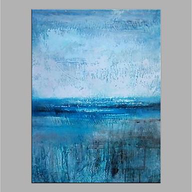 Hang malte oljemaleri Håndmalte - Abstrakt Moderne Uten Indre Ramme / Valset lerret