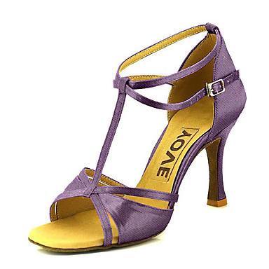 ราคาถูก Trendy Shoes-สำหรับผู้หญิง รองเท้าเต้นรำ ซาติน ลาติน / Salsa หัวเข็มขัด / ผูกริบบิ้น รองเท้าแตะ / ส้น ส้นแบบกำหนดเอง ตัดเฉพาะได้ บรอนซ์ / Almond / Nude / หนังสัตว์ / มืออาชีพ / EU39